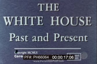 """"""" THE WHITE HOUSE PAST AND PRESENT """"  1960s DOCUMENTARY FILM    WASHINGTON DC PH66064"""